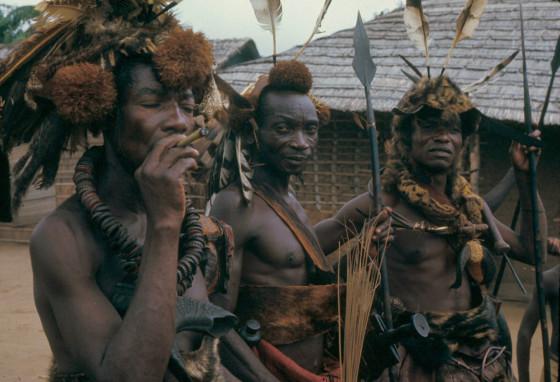 Titled Kuba soldiers known as Iyol, Bungamba village, Congo, 1970. Photo: Eliot Elisofon