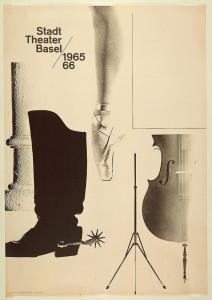 Poster, 1965 / 66 Season Poster, 1965. Designed by Armin Hofmann (Swiss, b. 1920) for Stadttheater (Basel, Switzerland). Offset lithograph. 128 × 90 cm (50 3/8 × 35 7/16 in.). Gift of Ken Friedman, 1997-19-144.