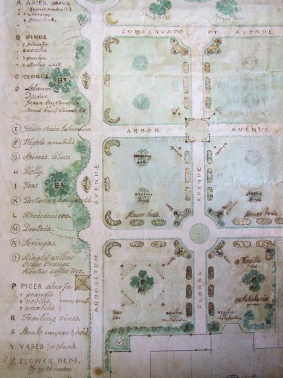 Plan of Ringwood's Italian sunken garden, ca. 1900.