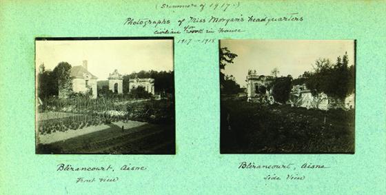 Photographs of Miss Morgan's headquarters