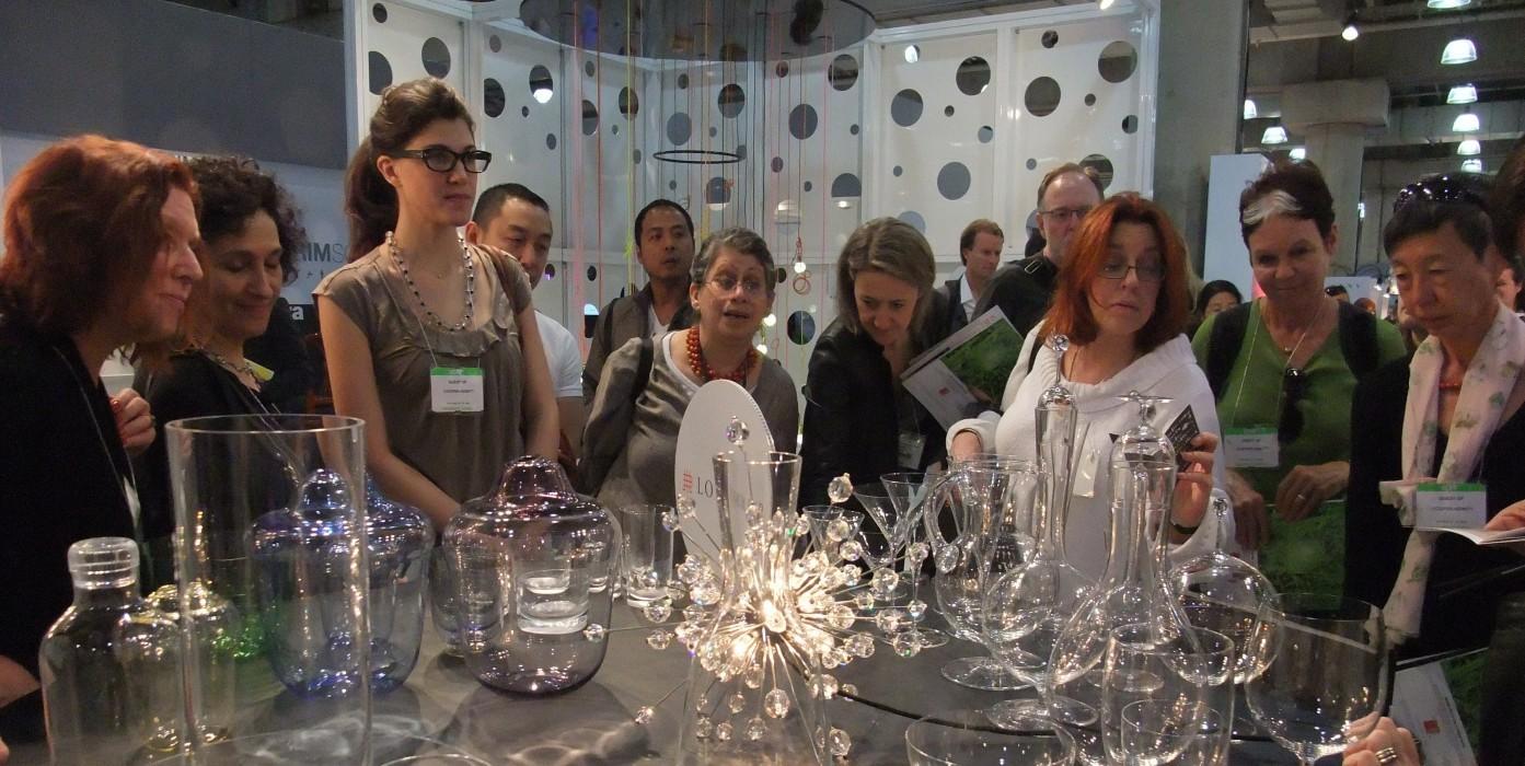 Cooper Hewitt members at the International Contemporary Furniture Fair tour