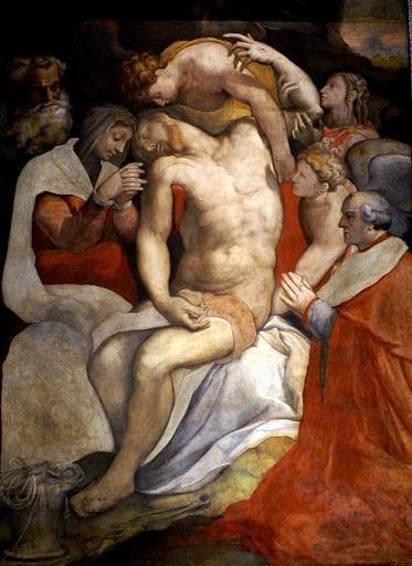 Francesco Salviati, Deposition, 1550. Markgrafen Chapel, Santa Maria dell' Anima, Rome